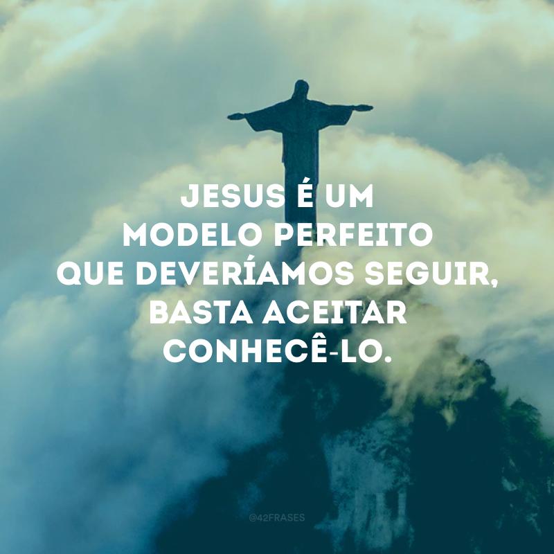 Jesus é um modelo perfeito que deveríamos seguir, basta aceitar conhecê-lo.