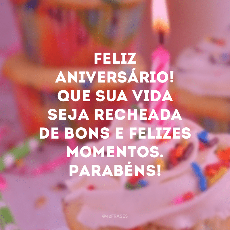 Frases De Feliz Aniversário Página Inicial Facebook