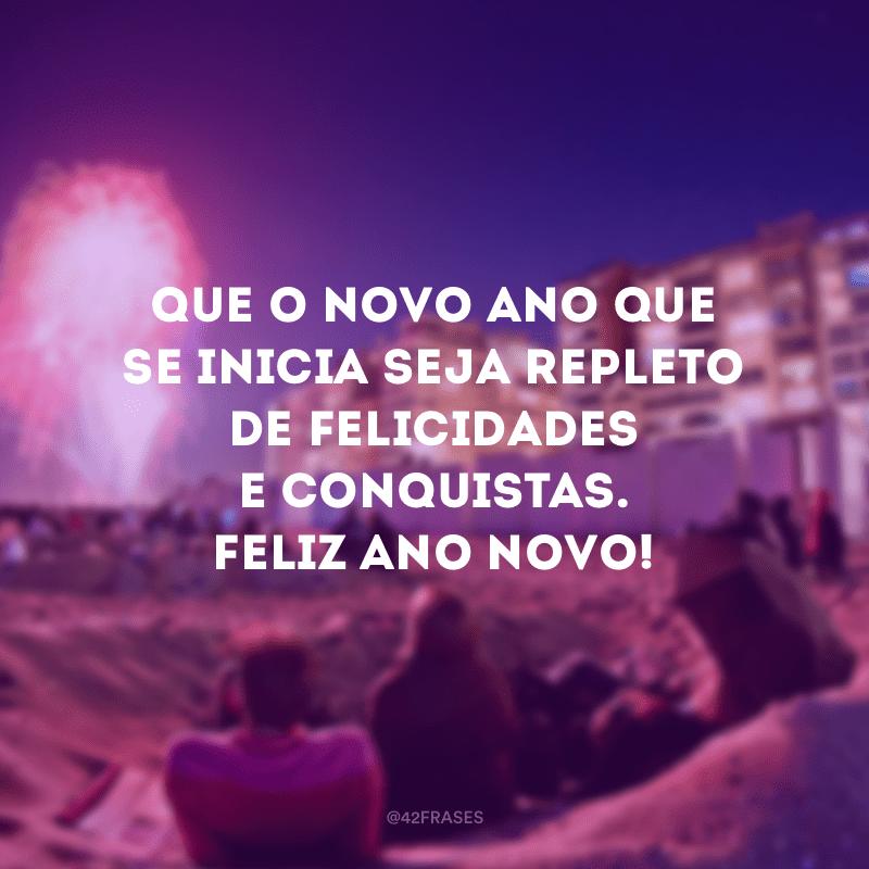 Que o novo ano que se inicia seja repleto de felicidades e conquistas. Feliz Ano Novo!