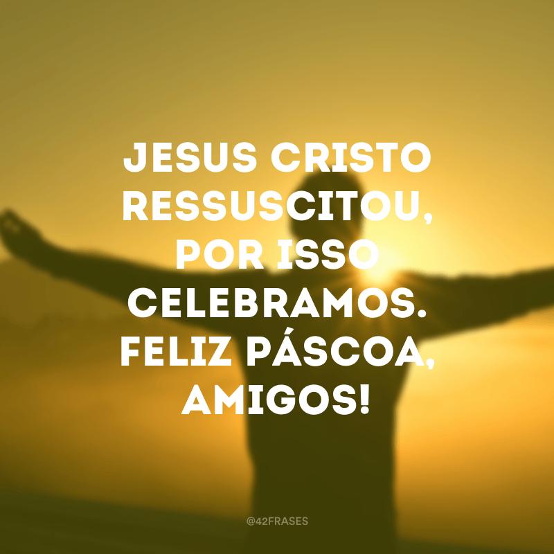 Jesus Cristo ressuscitou, por isso celebramos. Feliz Páscoa, amigos!