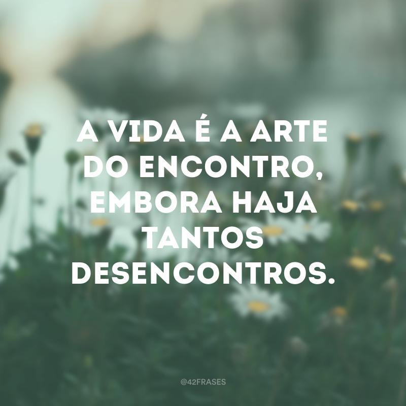 A vida é a arte do encontro, embora haja tantos desencontros.