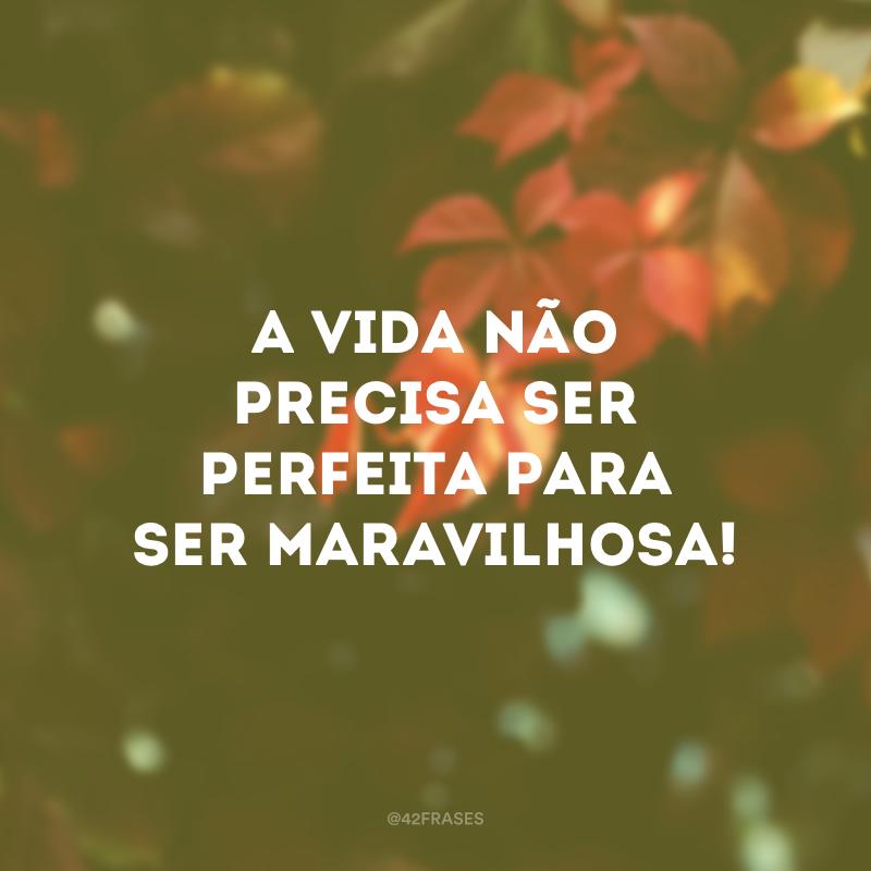 A vida não precisa ser perfeita para ser maravilhosa!
