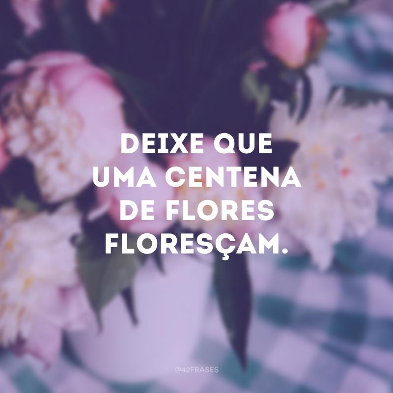 Deixe que uma centena de flores floresçam.