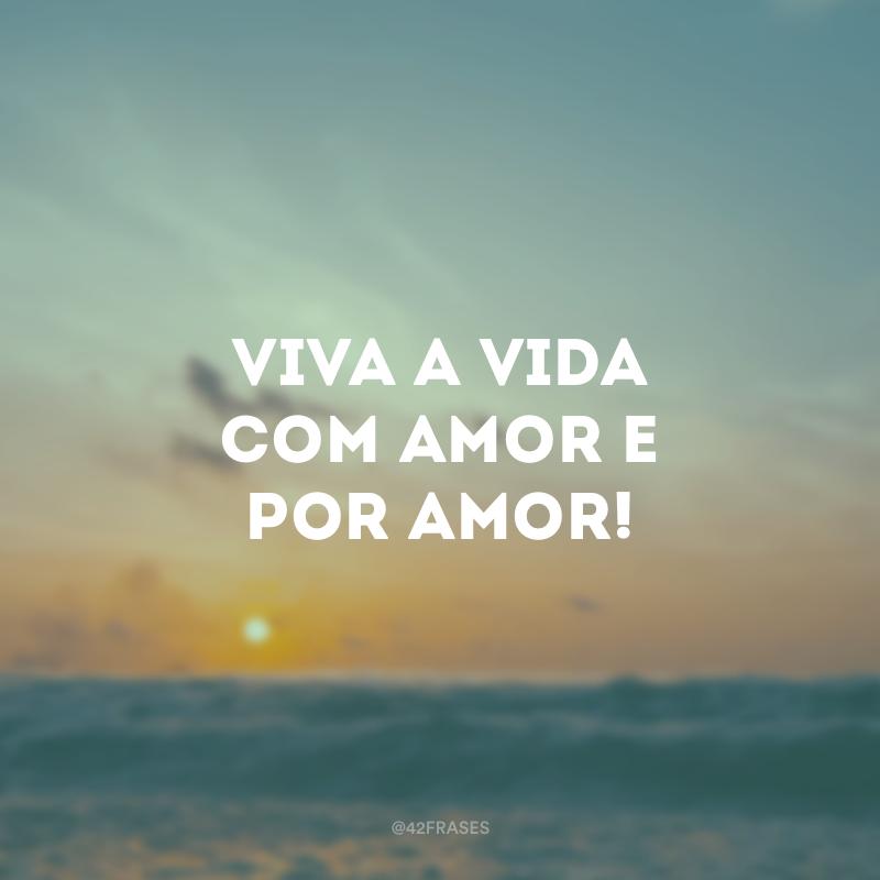 Viva a vida com amor e por amor!