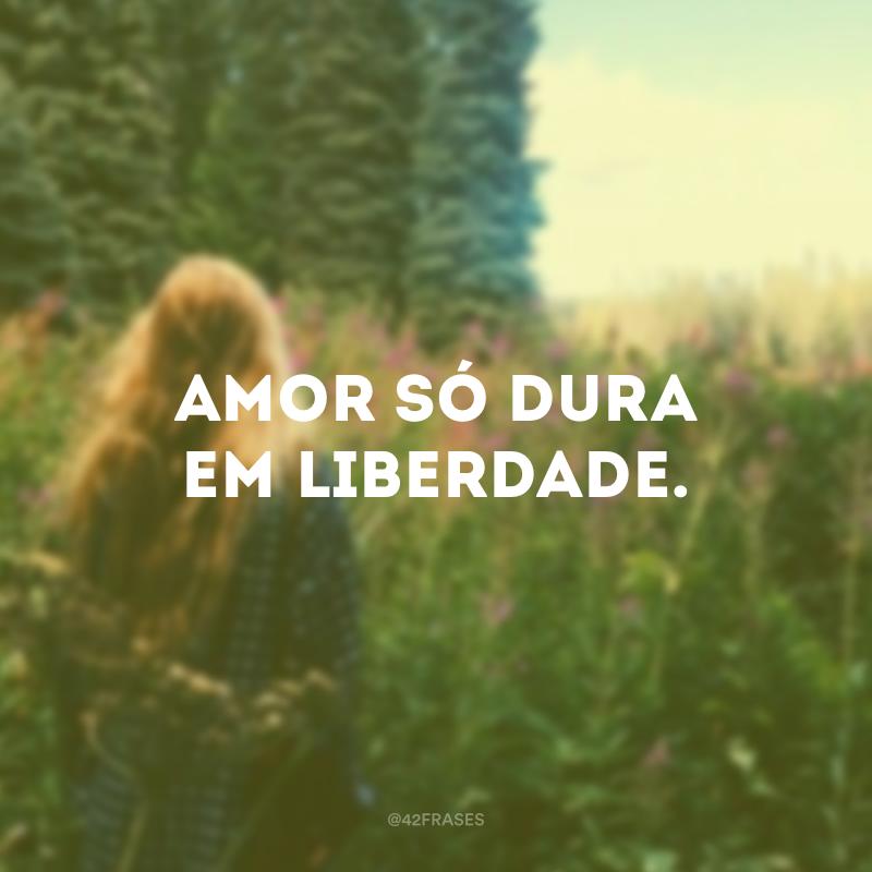 Amor só dura em liberdade.