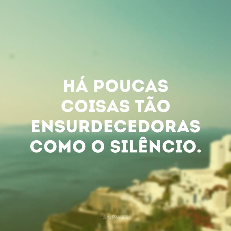 Há poucas coisas tão ensurdecedoras como o silêncio.