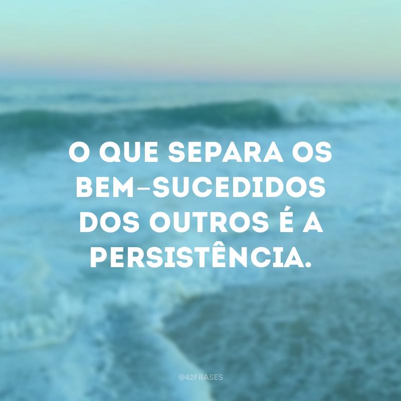 O que separa os bem-sucedidos dos outros é a persistência.