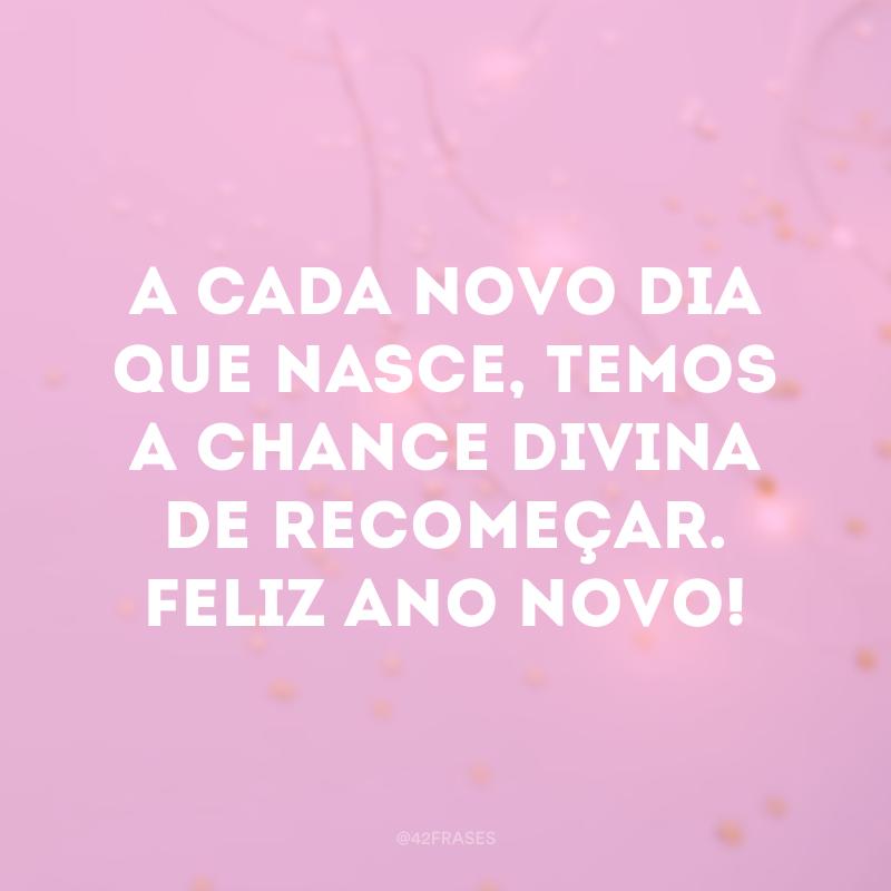 A cada novo dia que nasce, temos a chance divina de recomeçar. Feliz Ano Novo!