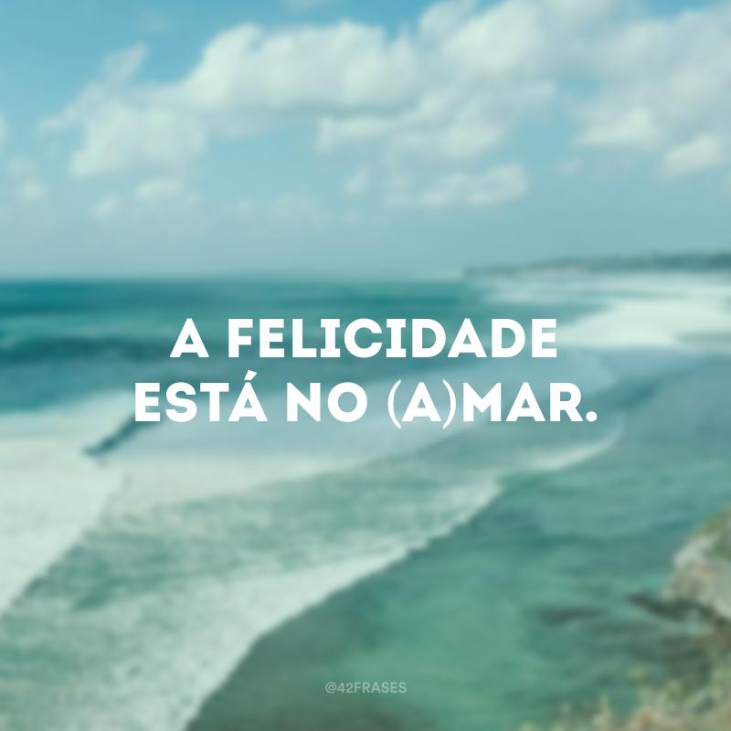 A felicidade está no (a)mar.