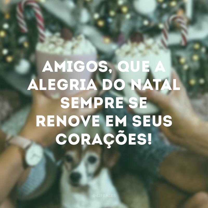 Amigos, que a alegria do Natal sempre se renove em seus corações!