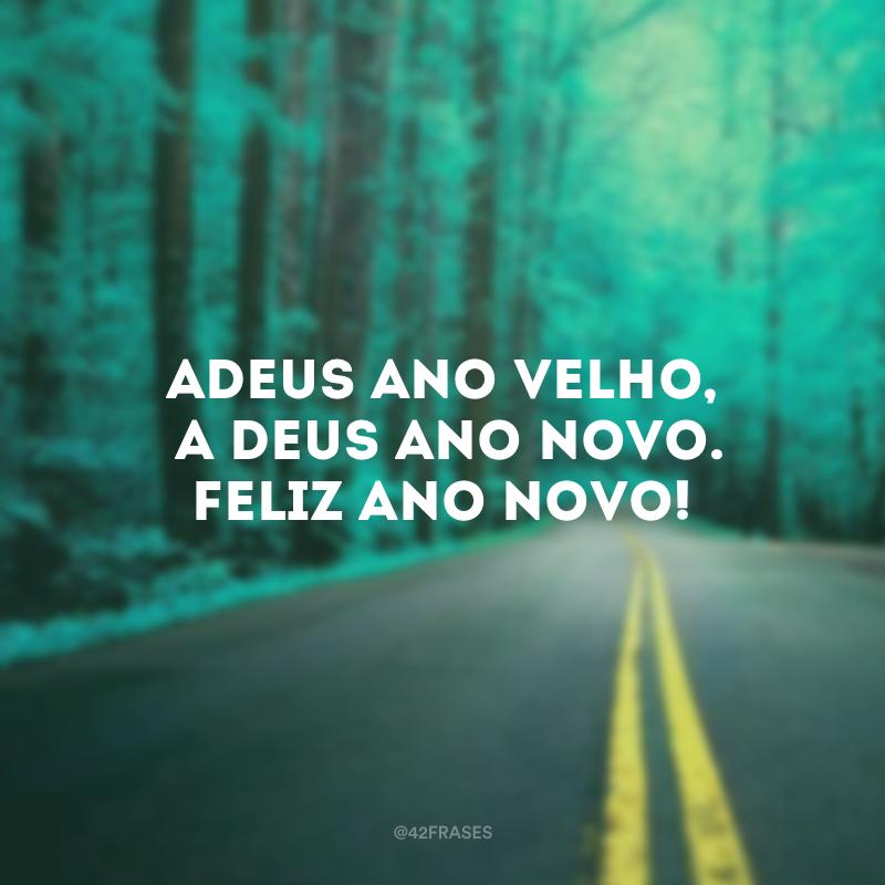 Adeus ano velho, a Deus Ano Novo. Feliz Ano Novo!