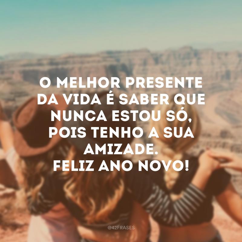O melhor presente da vida é saber que nunca estou só, pois tenho a sua amizade. Feliz Ano Novo!