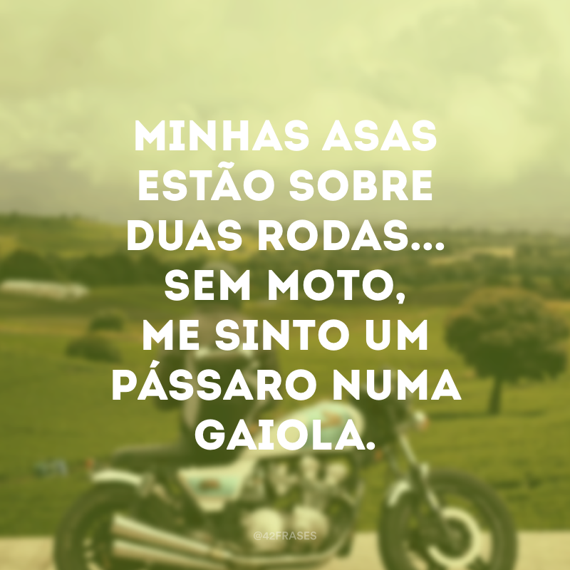 f5b4190fca7 40 frases de moto para quem ama levar a vida sobre duas rodas