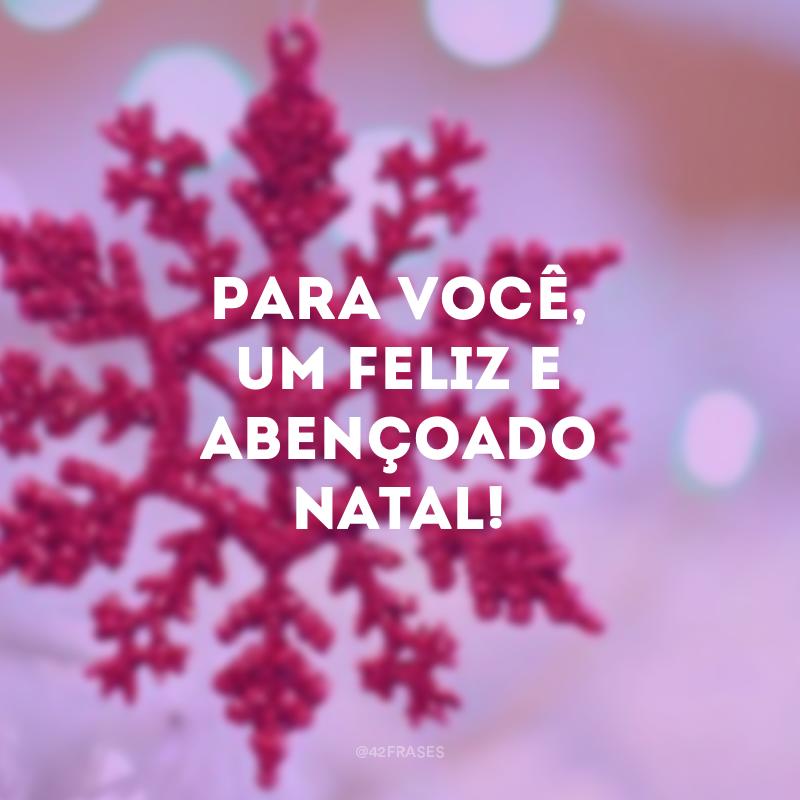 Para você, um feliz e abençoado Natal!