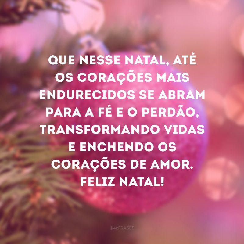 Que nesse Natal, até os corações mais endurecidos se abram para a fé e o perdão, transformando vidas e enchendo os corações de amor. Feliz Natal!
