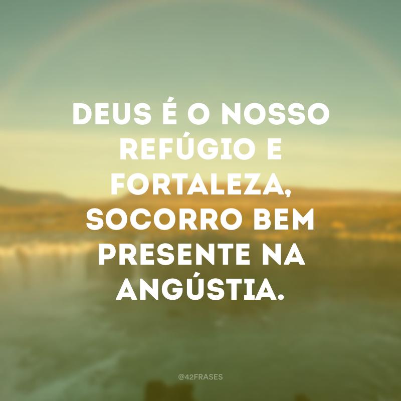Deus é o nosso refúgio e fortaleza, socorro bem presente na angústia.
