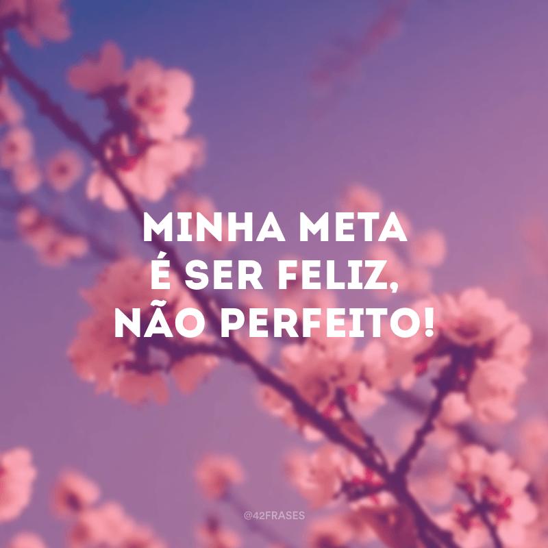 Minha meta é ser feliz, não perfeito!