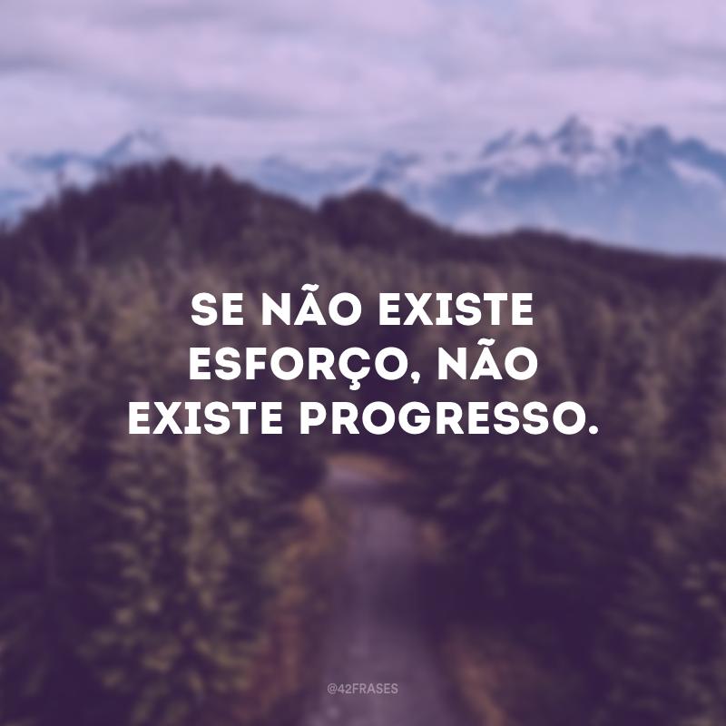 Se não existe esforço, não existe progresso.