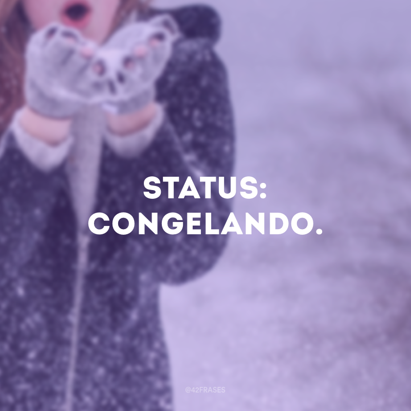 Status: congelando.
