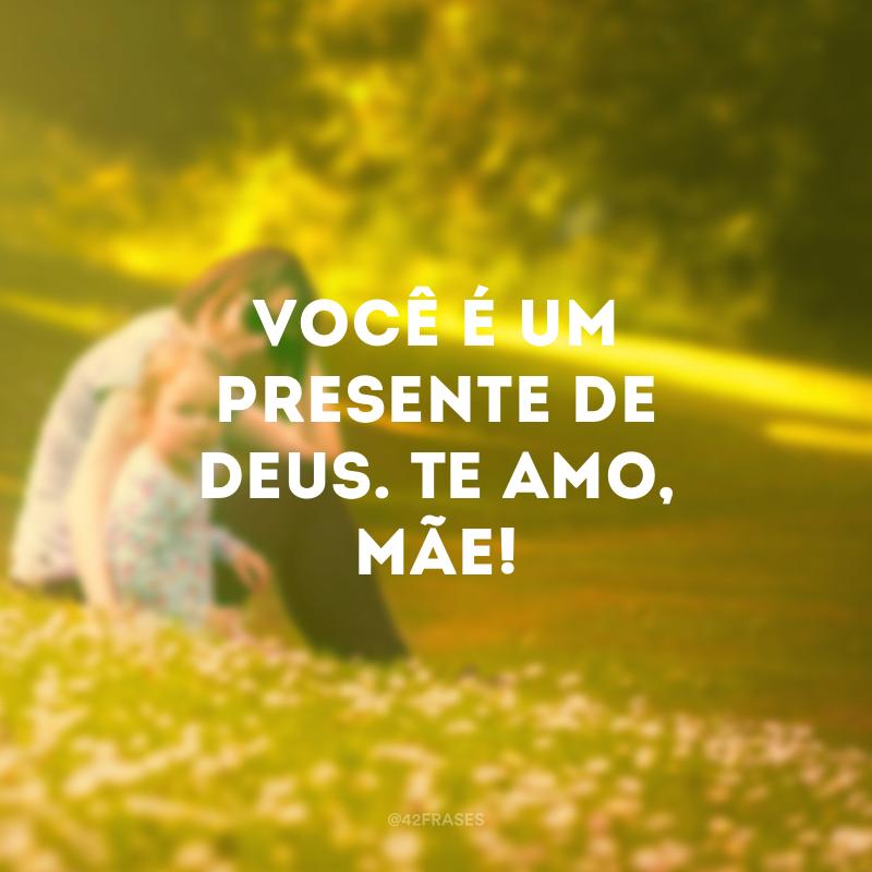 Você é um presente de Deus. Te amo, mãe!