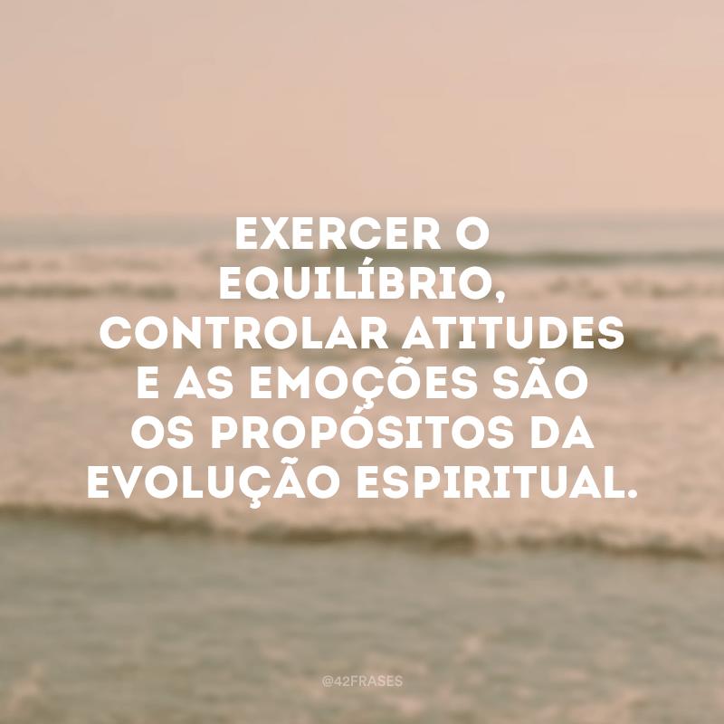 Exercer o equilíbrio, controlar atitudes e as emoções são os propósitos da evolução espiritual.