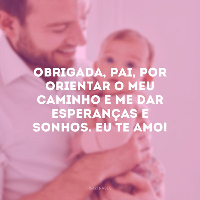 Obrigada, pai, por orientar o meu caminho e me dar esperanças e sonhos. Eu te amo!