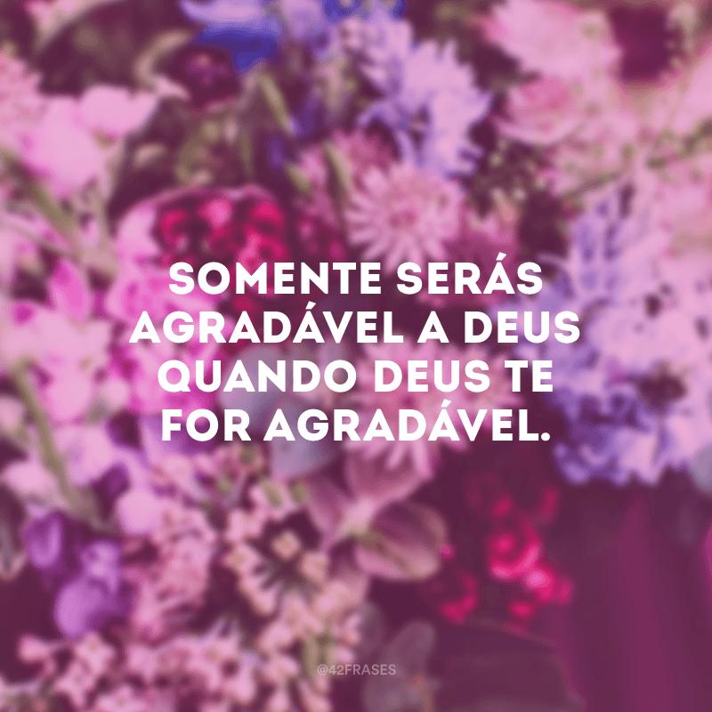 Somente serás agradável a Deus quando Deus te for agradável.