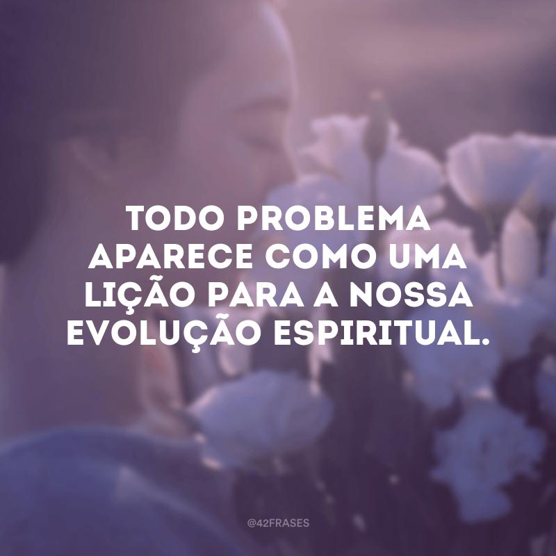 Todo problema aparece como uma lição para a nossa evolução espiritual.