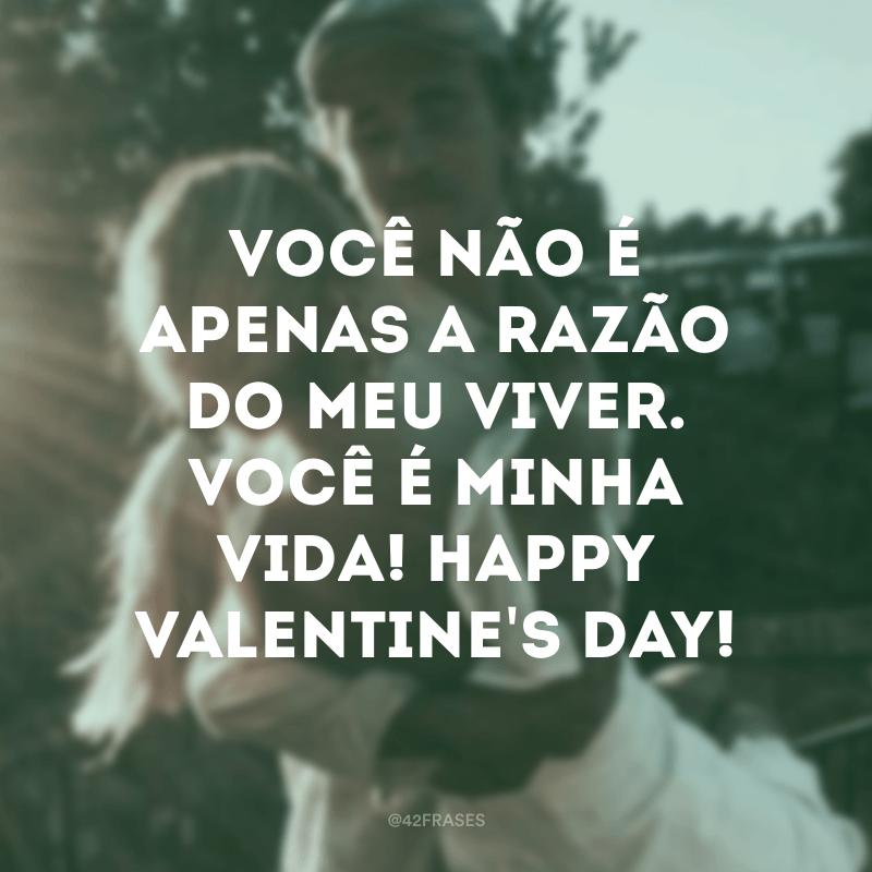 Você não é apenas a razão do meu viver. Você é minha vida! Happy Valentine's day!