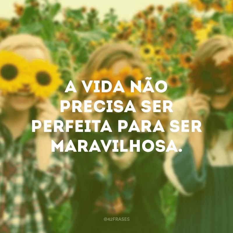 A vida não precisa ser perfeita para ser maravilhosa.
