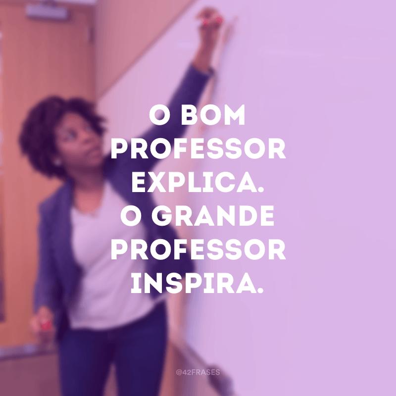 O bom professor explica. O grande professor inspira.