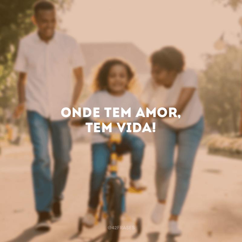 Onde tem amor, tem vida!