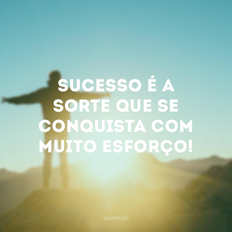 Sucesso é a sorte que se conquista com muito esforço!