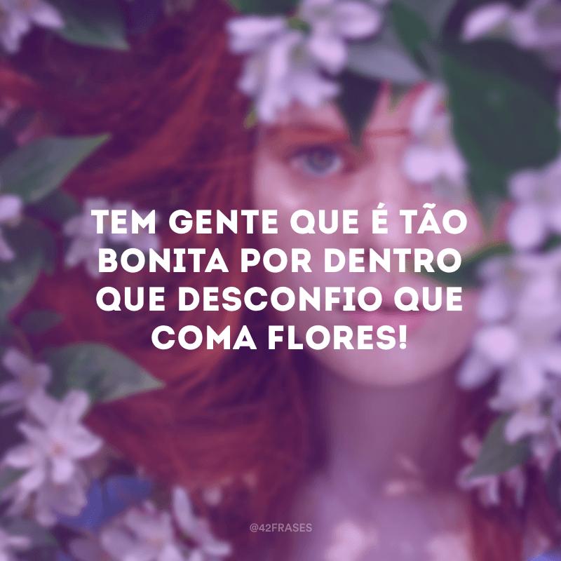 Tem gente que é tão bonita por dentro que desconfio que coma flores!