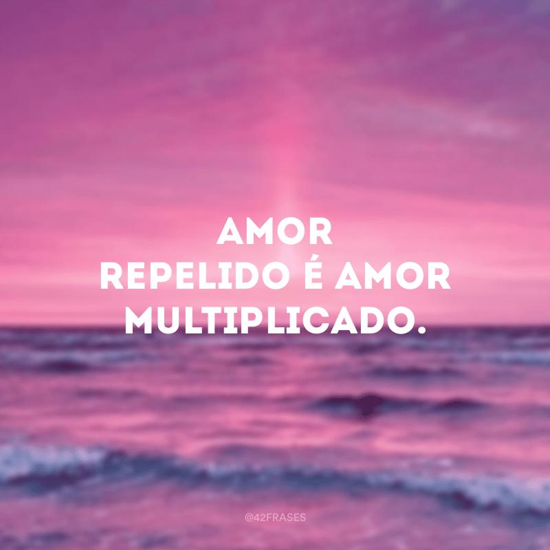 Amor repelido é amor multiplicado.