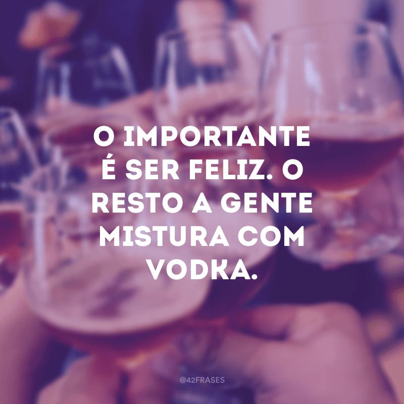 O importante é ser feliz. O resto a gente mistura com vodka.