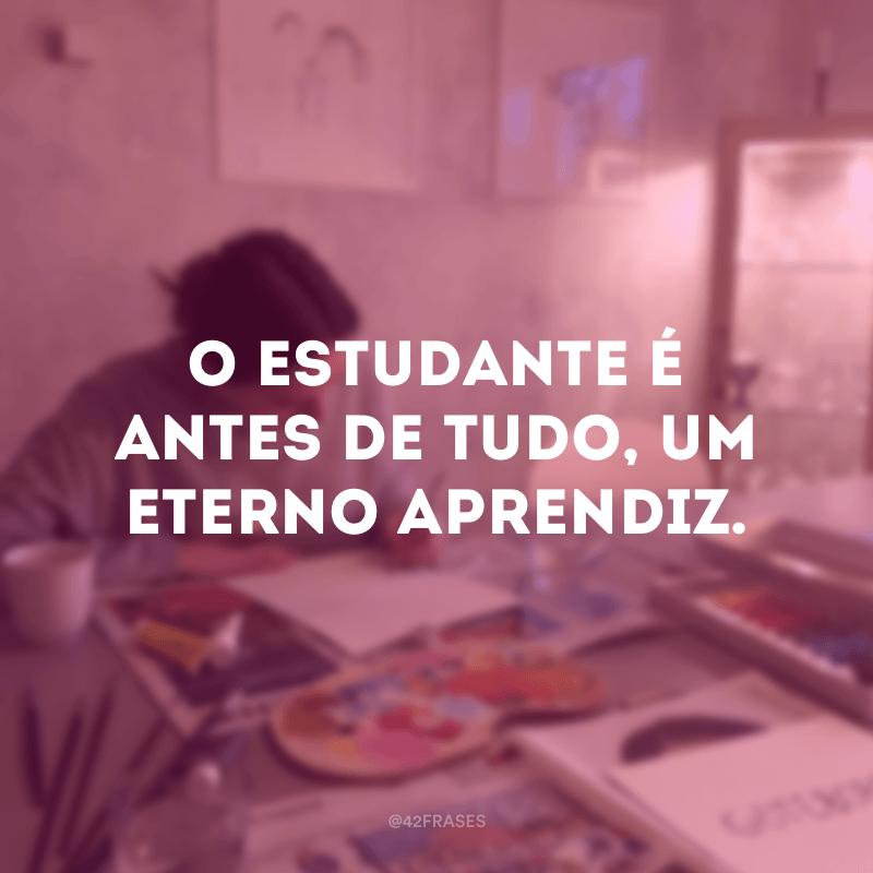 O estudante é antes de tudo, um eterno aprendiz.