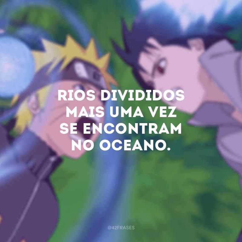 Rios divididos mais uma vez se encontram no oceano.