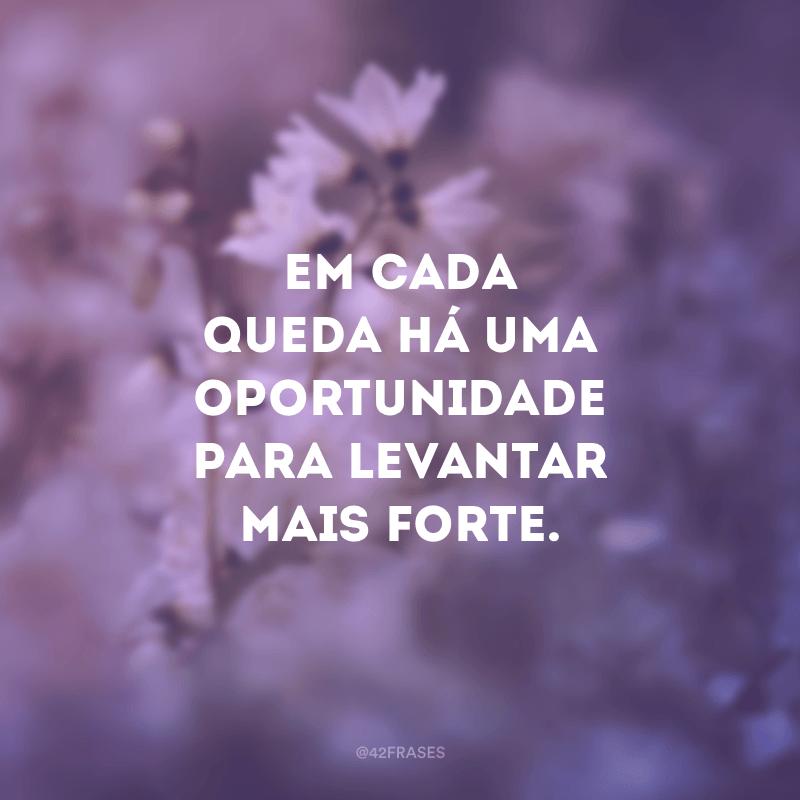 Em cada queda há uma oportunidade para levantar mais forte.