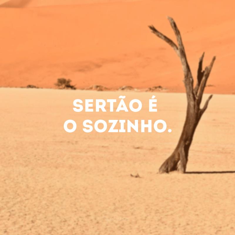Sertão é o sozinho.