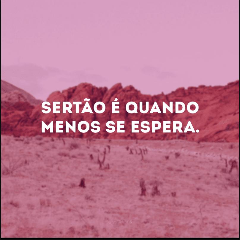 Sertão é quando menos se espera.