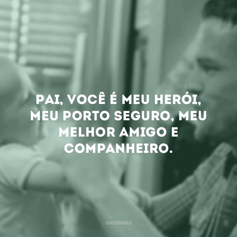 Pai, você é meu herói, meu porto seguro, meu melhor amigo e companheiro.