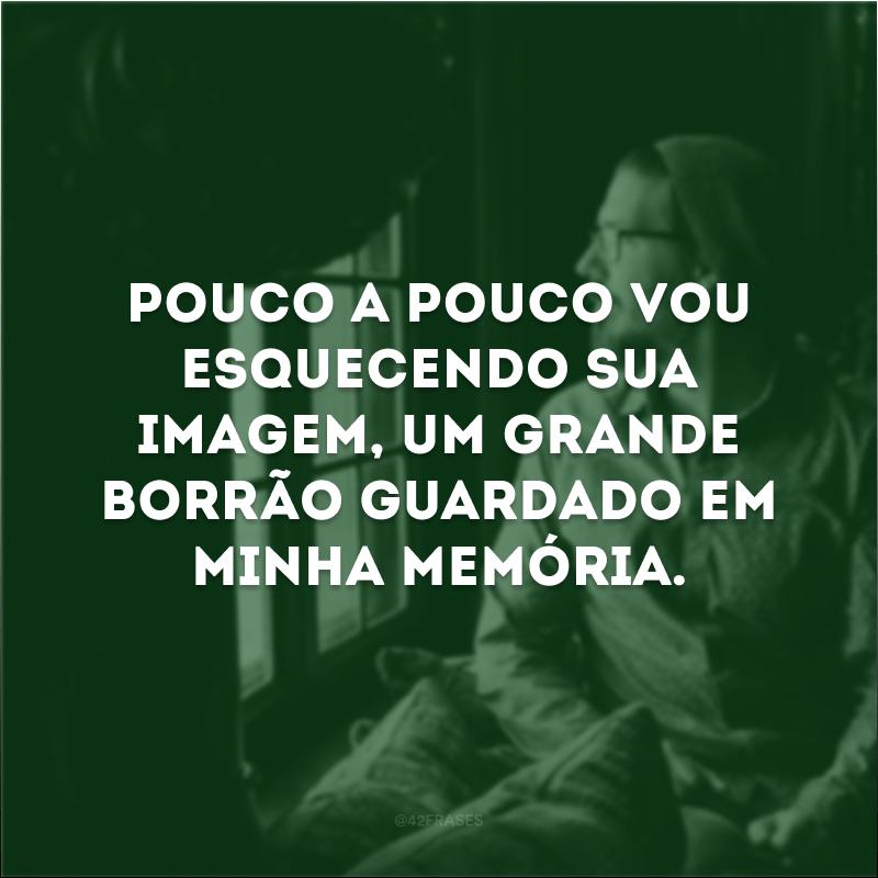 Pouco a pouco vou esquecendo sua imagem, um grande borrão guardado em minha memória.