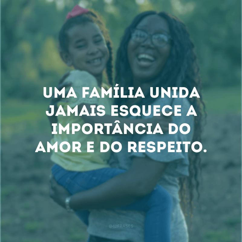 Uma família unida jamais esquece a importância do amor e do respeito.