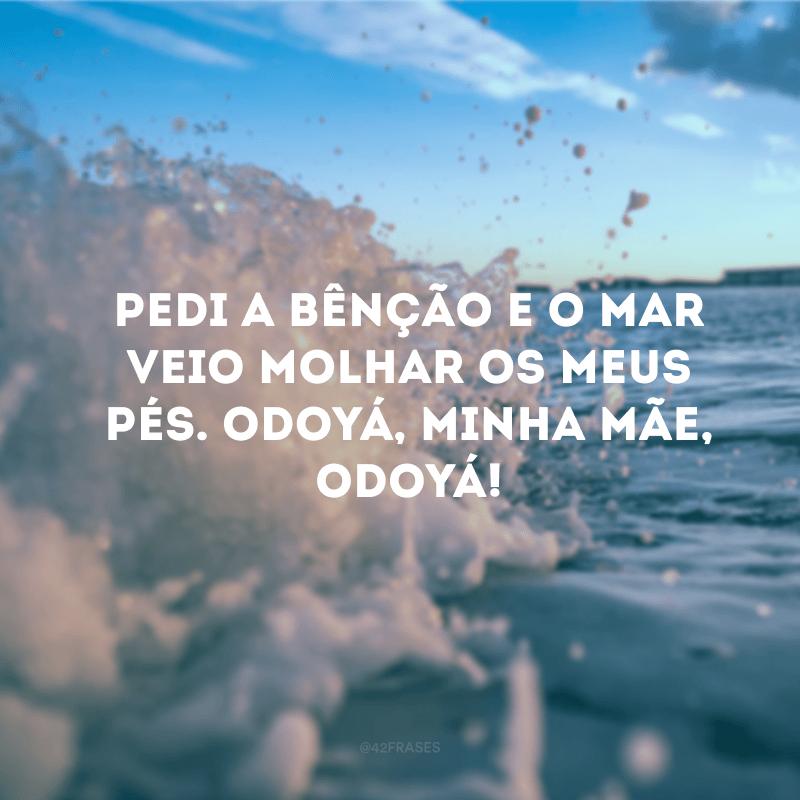 Pedi a bênção e o mar veio molhar os meus pés. Odoyá, minha mãe, Odoyá!