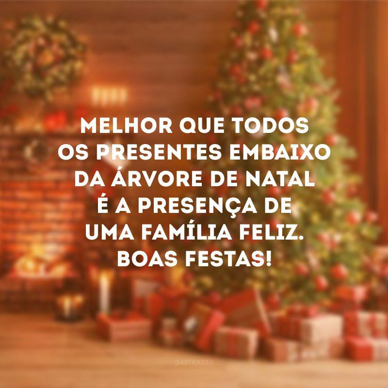 Melhor que todos os presentes embaixo da árvore de Natal é a presença de uma família feliz. Boas Festas!