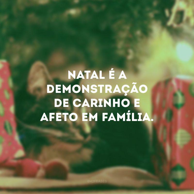 Natal é a demonstração de carinho e afeto em família.
