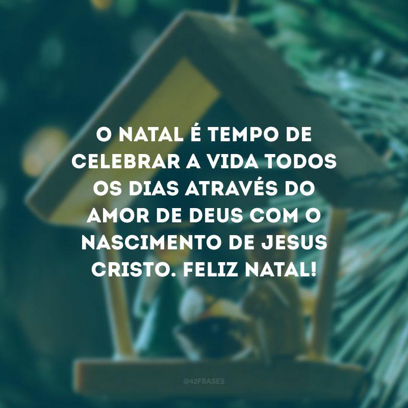 O Natal é tempo de celebrar a vida todos os dias através do amor de Deus com o nascimento de Jesus Cristo. Feliz Natal!