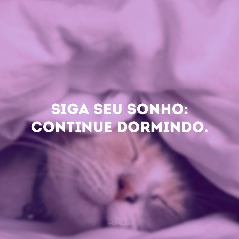 Siga seu sonho: continue dormindo.