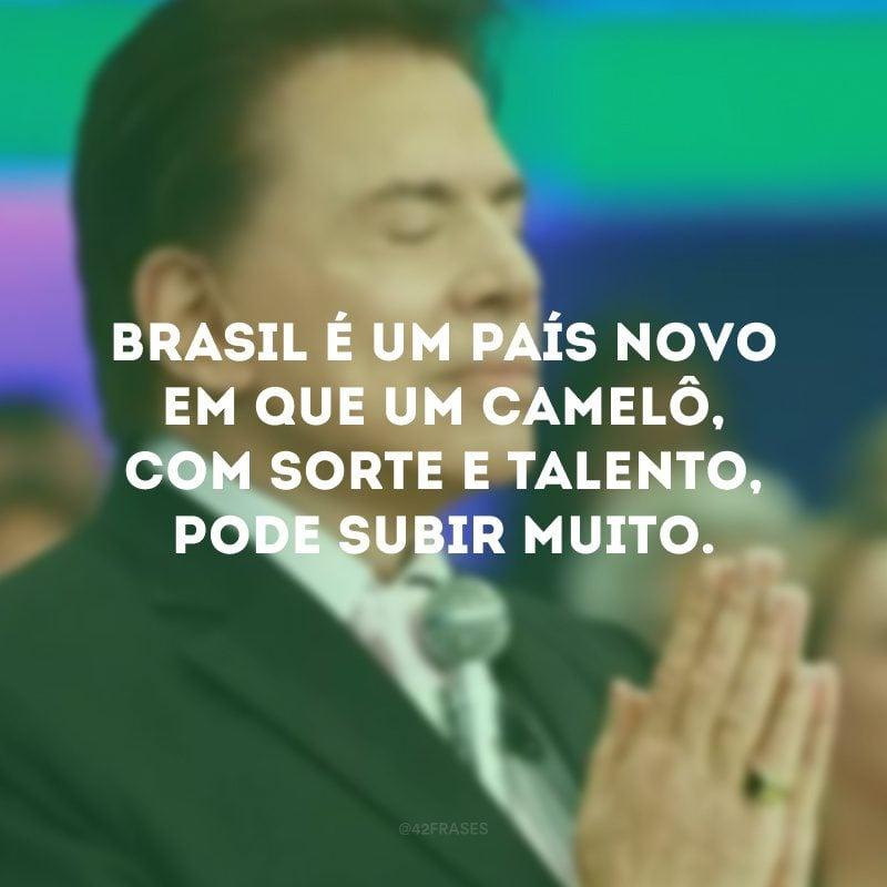 Brasil é um país novo em que um camelô, com sorte e talento, pode subir muito.